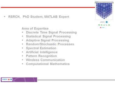 RSRCH, PhD Student and MATLAB Expert