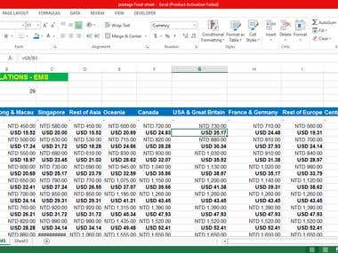 NT$ to US$ Calculation using formula In MS-Excel