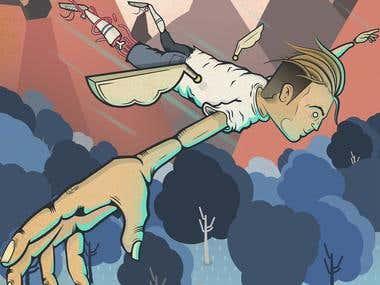 Fly aron - illustration