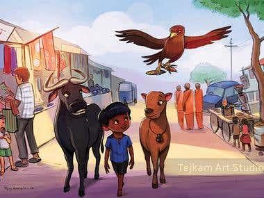Children book project   The adventure of Dheerendra