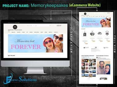 Memory Keep Sakes (eCommerce Website)