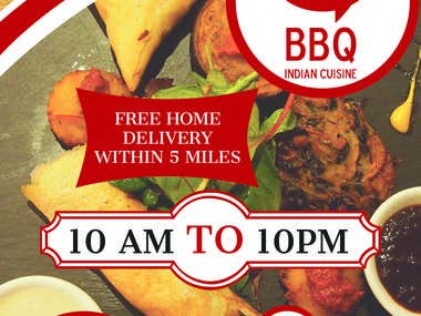 BBQ Indian Cuisine Flyer