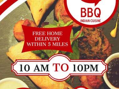 BBQ Indian Cuisine Flyer