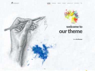 WordPress Theme Respupr