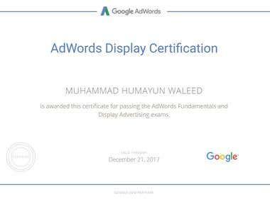 Display Advertising Certificate
