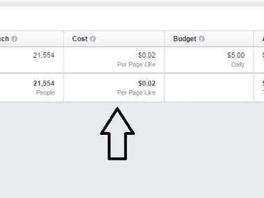 2 cent per Facebook llike