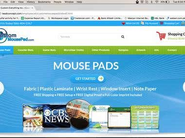 Custommousepad OpenCart eCommerce Website