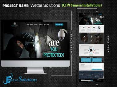 Wetter Solutions (Wordpress Website- CCTV Installation)