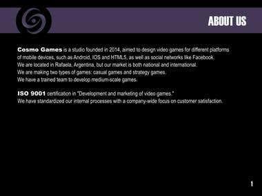 Portfolio Cosmo Games