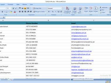 Collect The International Schools  Contact Information