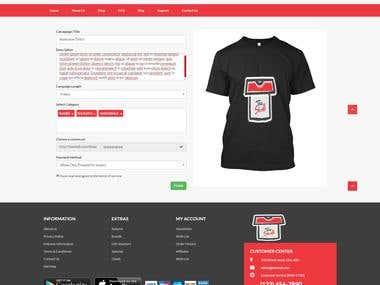 Tshirt designing tool