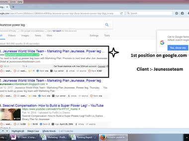 Global Google 1st position