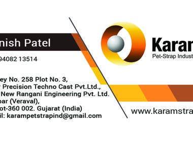 Karam Pet-Strap Business Card