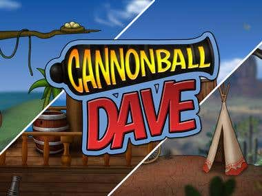 Logo design for the game Cannonball Dave