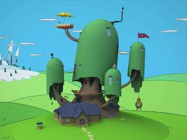 3D model of the Tree Fort - Adventure Time