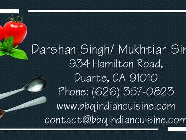 BBQ Indian Cuisine Business Card
