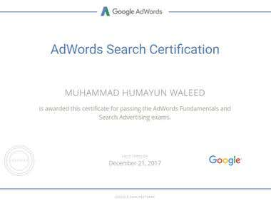 Search Advertising Certificate