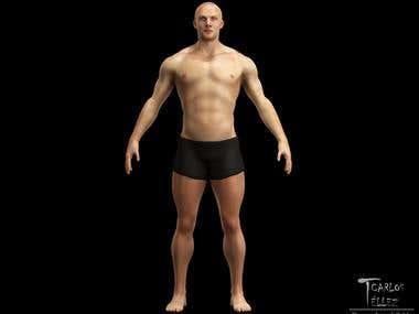 Anatomy - Athletic man