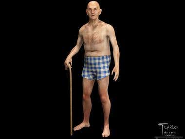 Anatomy - Old man