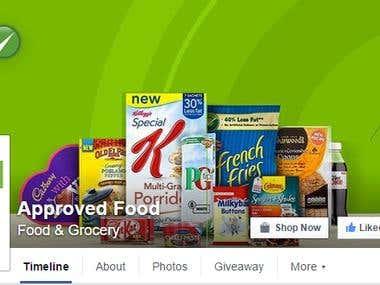 social media marketing on food project.