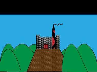 Castle Storybook Illustration