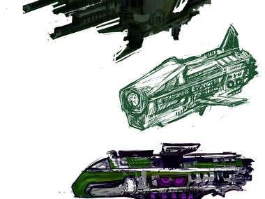 Spaceships sketches