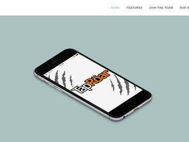 TapRoar Website Design