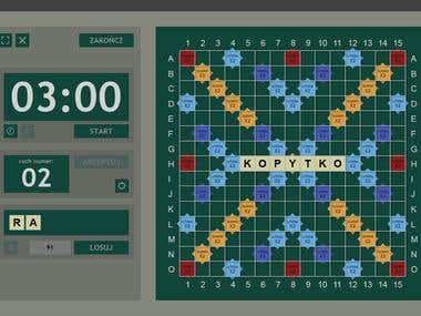 Scrabble tournament gameplay viewer