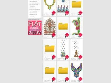 Emboroidery Design Shopping site