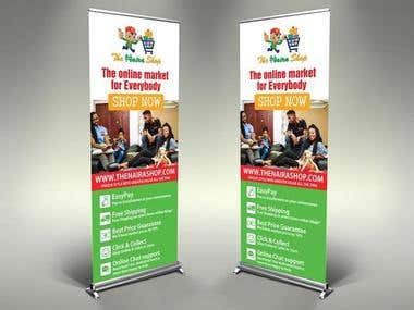 I can design an awesome roll-up/pull-up Banner