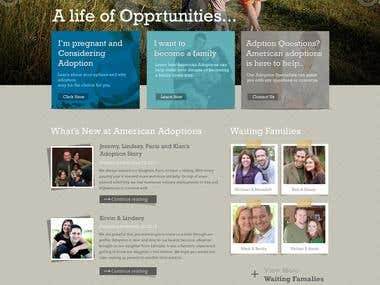 Website Design for American Adoptions