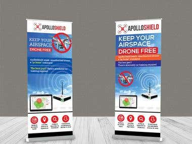 I can design an awesome roll-up/pull-up Banner.