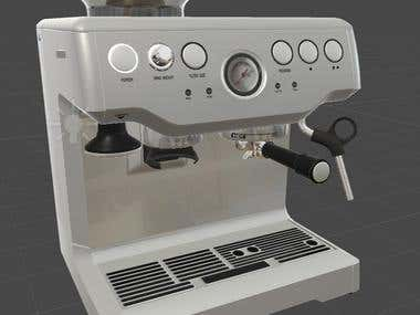 3D model of a Espresso Machine