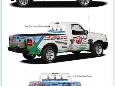 Ford Ranger wrap design