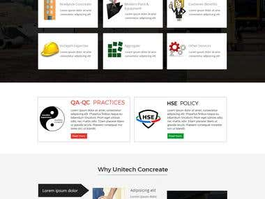 Unitech Concrete web design project