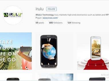Instagram marketing for irulu