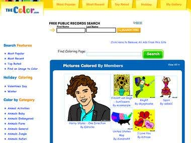 www.thecolor.com (responsive online coloring site)