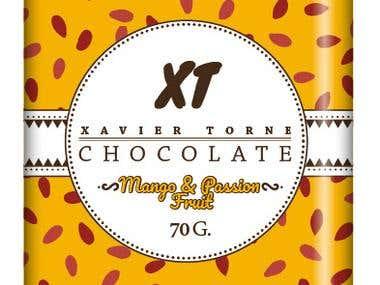 Diseño de Packaging para chocolates artesanales.