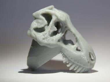 T Rex ring 3D print