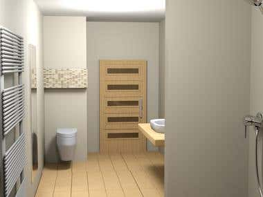 Colab with Dorotybe - renewing Bathroom Design 3D concept