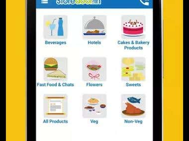 Android App: Storedoor: Online Food ordering App