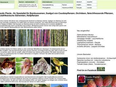 WordPress converision http://exotic-plants.de/