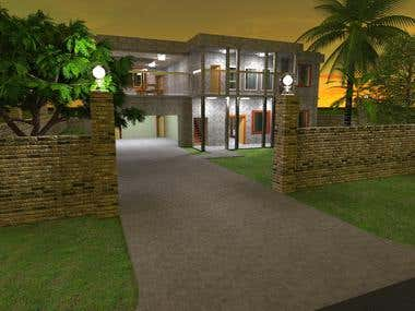 Typical house design and render