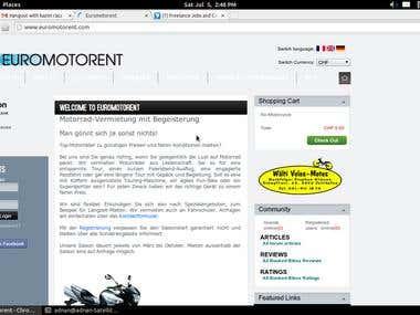 OScommer webapp