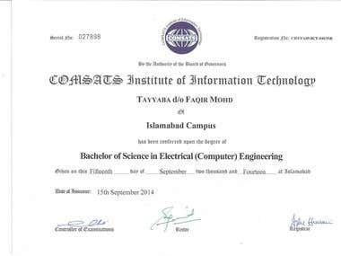 Bachelors in Electrical Engineering