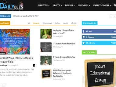 Daily Bees- Wordpress Website