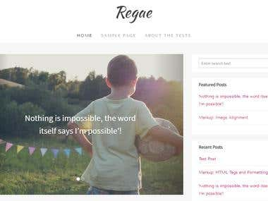 Regae - Wordpress Theme