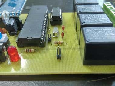 Atmel based bluetooth controlled board