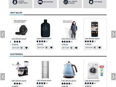 Mockup Online Shop