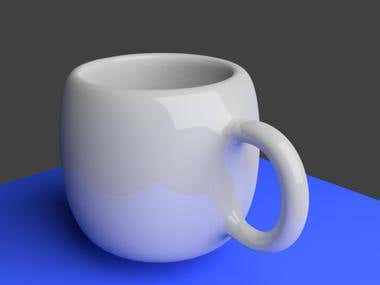 3D Design Coffee Cup